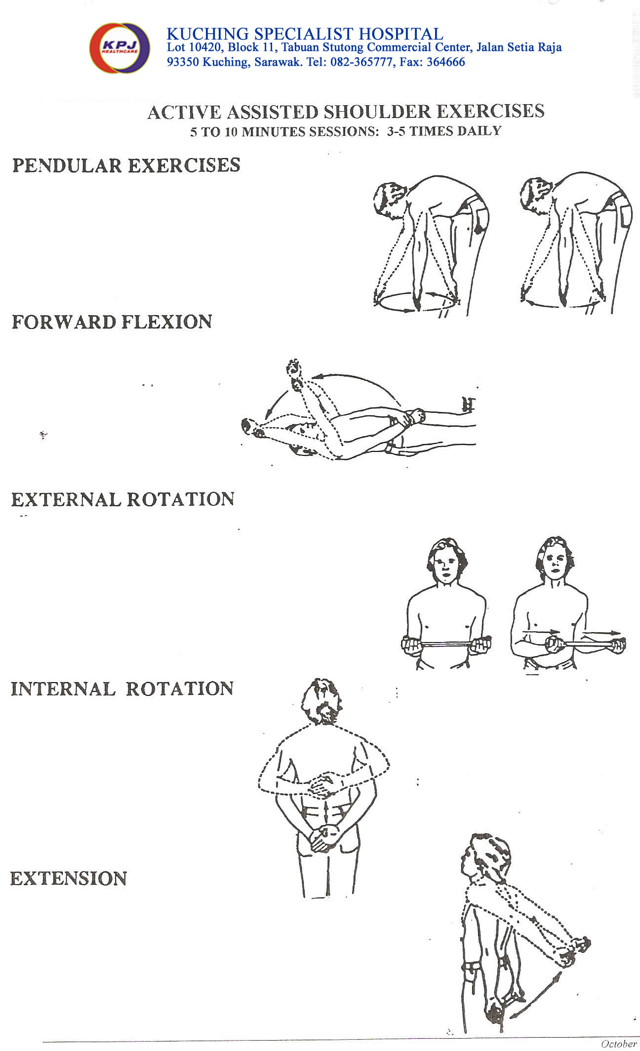 Exercises After Total Shoulder Replacement Pictures To Pin